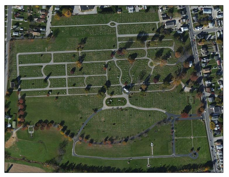 Mt Olivet Cemetery Aerial View